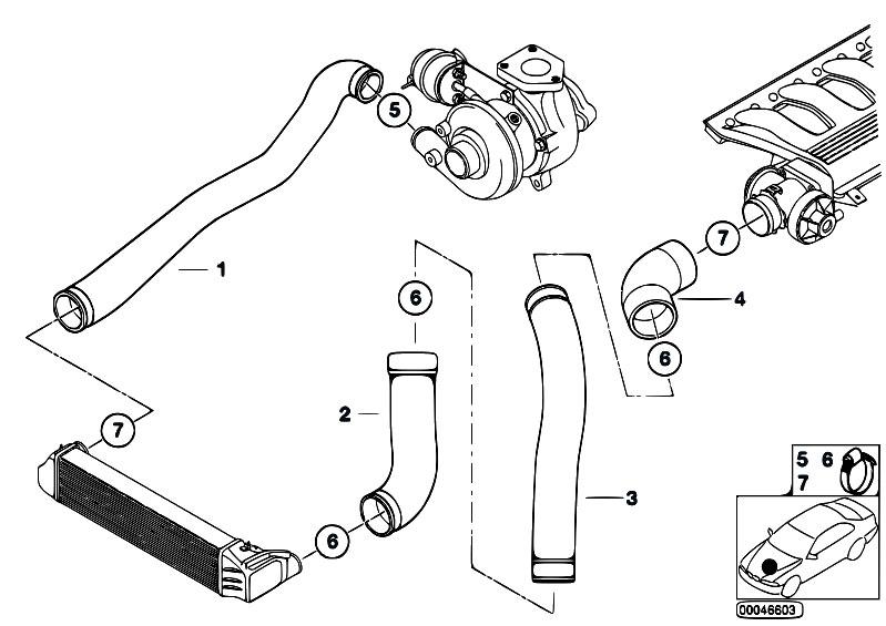 Original Parts For E46 320d M47 Touring    Engine   Intake