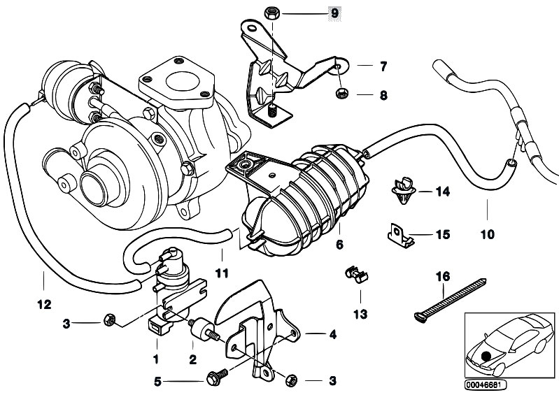 Original Parts For E46 320d M47 Touring Engine Vacum