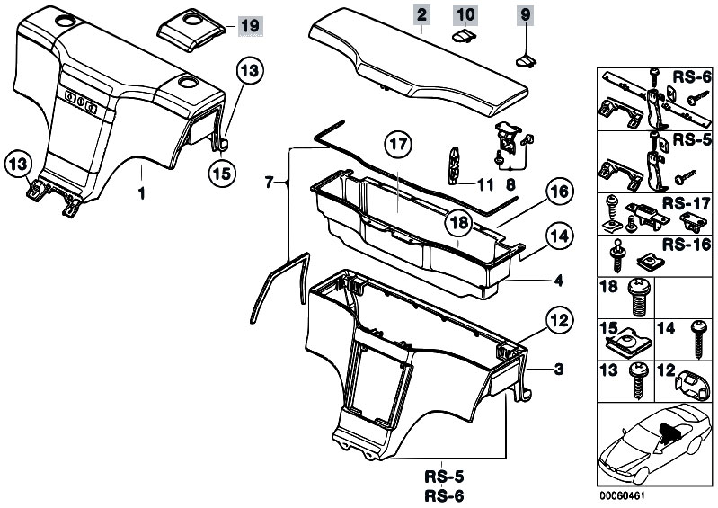 Original Parts for    Z3       Z3    19 M44 Roadster  Vehicle Trim Stowage Box  eStoreCentral