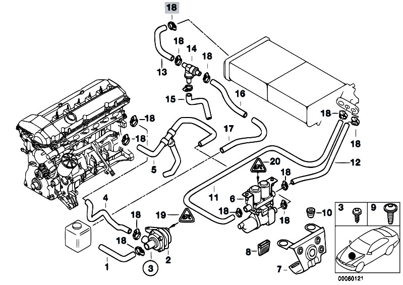 2000 bmw 323i cooling system diagram