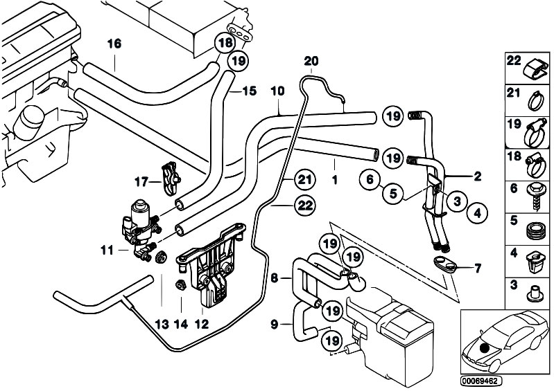 e46 cooling system 323i diagram 2000