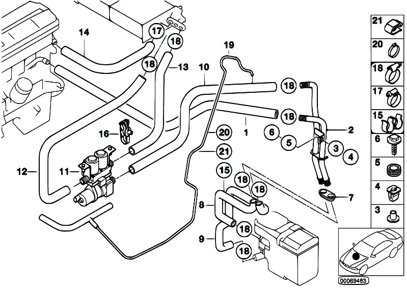 original parts for e39 530d m57 touring    heater and air