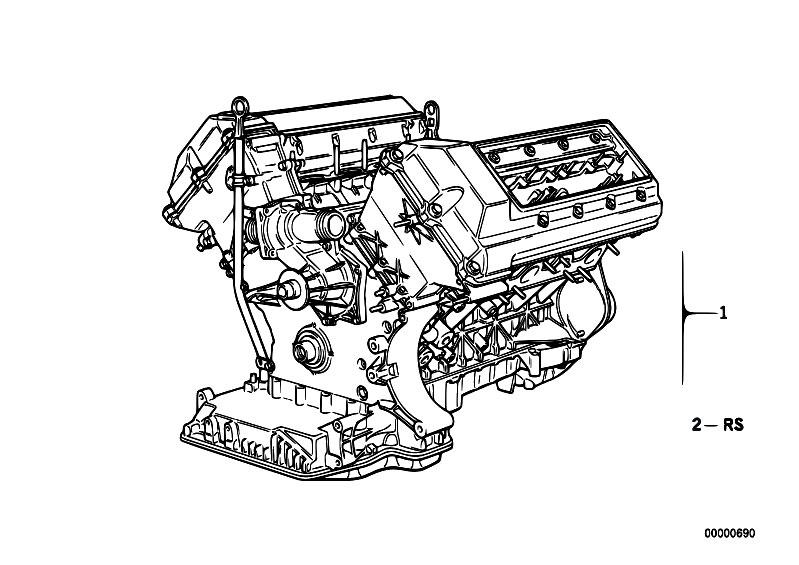 original parts for e38 740i m60 sedan engine engine estore central