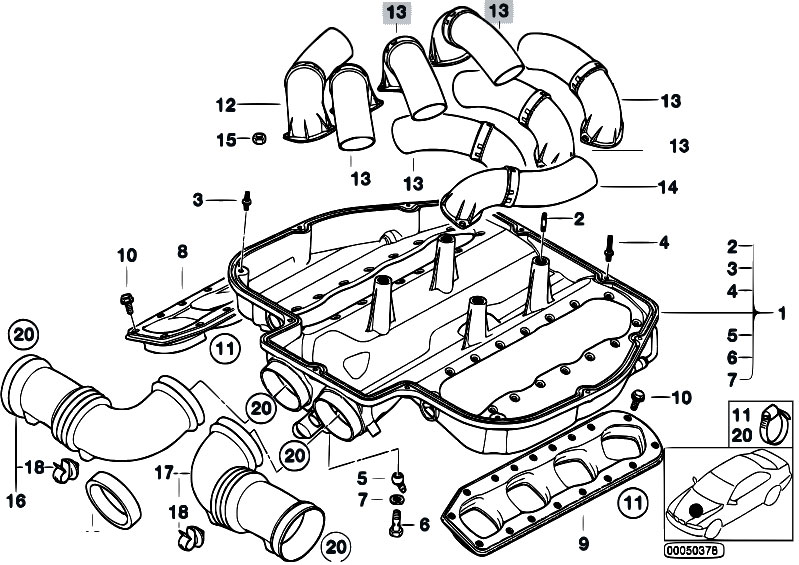 m54 air intake manifold diagram  m54  free engine image
