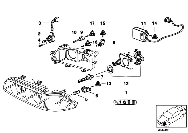 original parts for e39 540ip m62 sedan    lighting   indiv