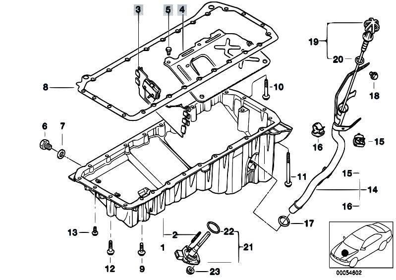 Original Parts For E46 330d M57 Touring    Engine   Oil Pan