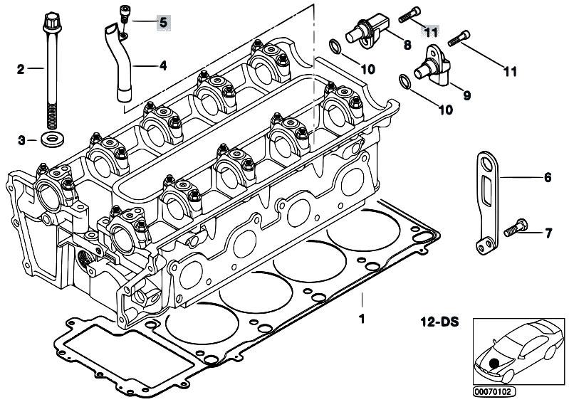 original parts for e52 z8 s62 roadster    engine   cylinder