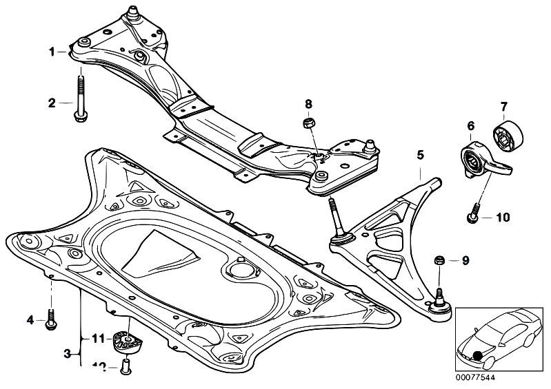original parts for e46 m3 s54 cabrio    front axle   front