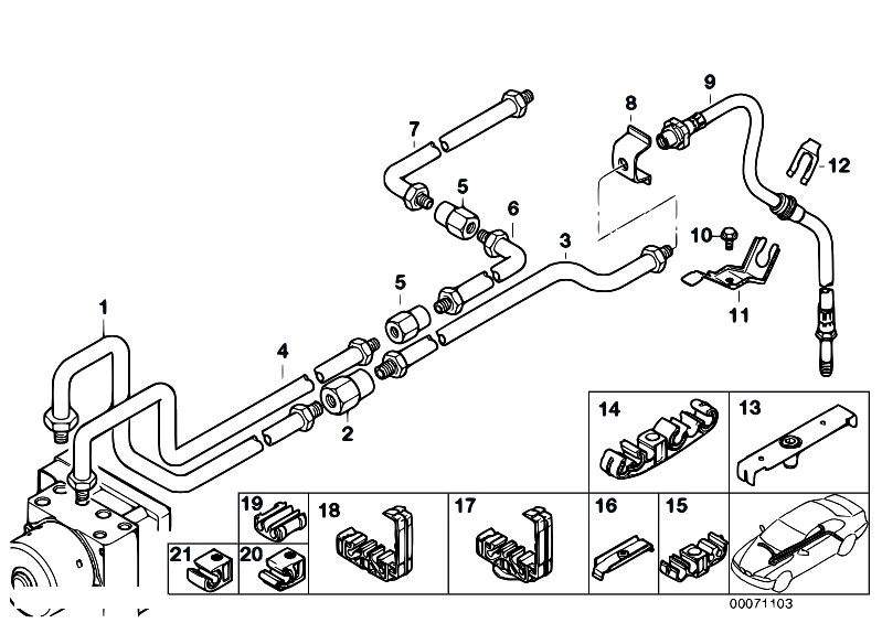 1993 ford ranger brake line diagram original parts for e46 318ci n46 coupe / brakes/ rear ... bmw brake line diagram #5