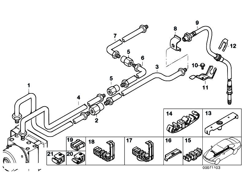 original parts for e46 318ci n46 coupe    brakes   rear brake pipe dsc 2