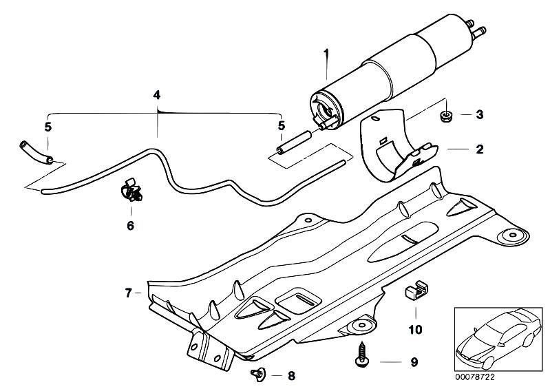 original parts for e46 325ti m54 compact    fuel