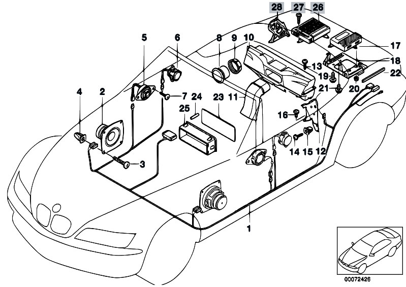 2000 bmw 323i radio antenna wiring diagram