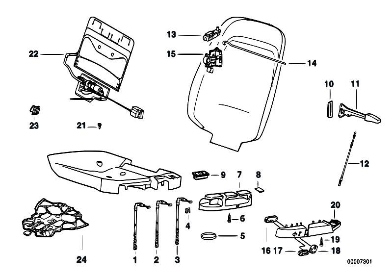 Ci U0119gno  Linka Uchylania Oparcia Fotela Przedniego  Do Fotela Mechanicznej Regulacji   Bmw E36