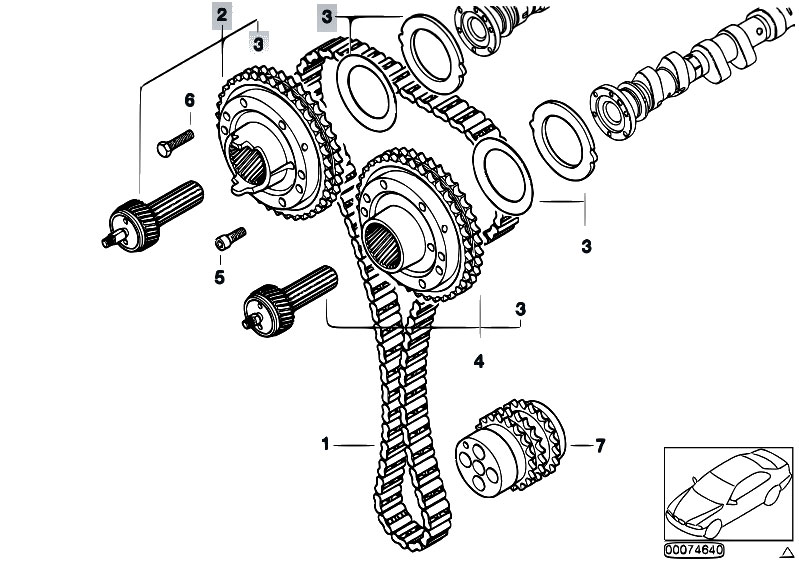 1997 bmw m3 timing chain replacement diagram