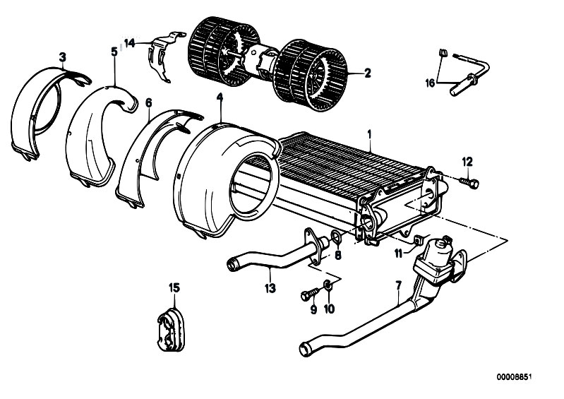 original parts for e30 m3 s14 cabrio    heater and air conditioning   heater radiator blower 2