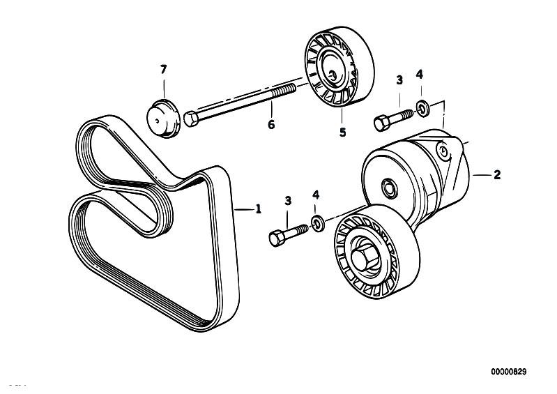 Original Parts For E34 525ix M50 Touring    Engine   Belt Drive Water Pump Alternator