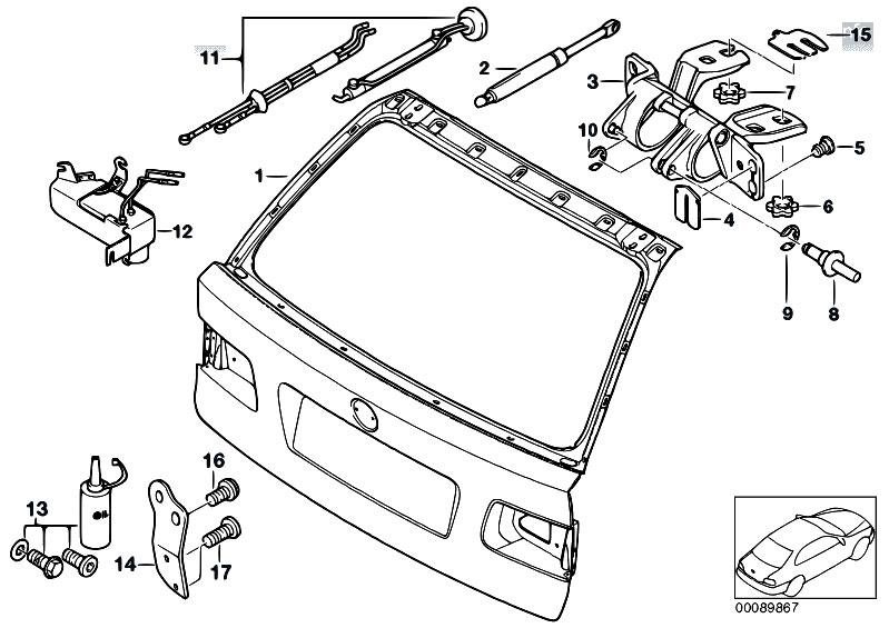 Original Parts For E39 520d M47 Touring    Bodywork   Trunk