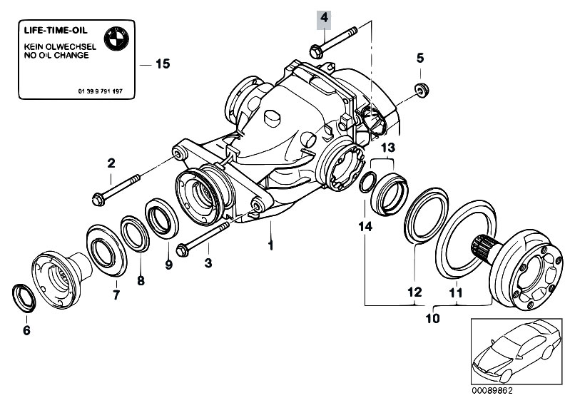 bmw e36 differential part numbers