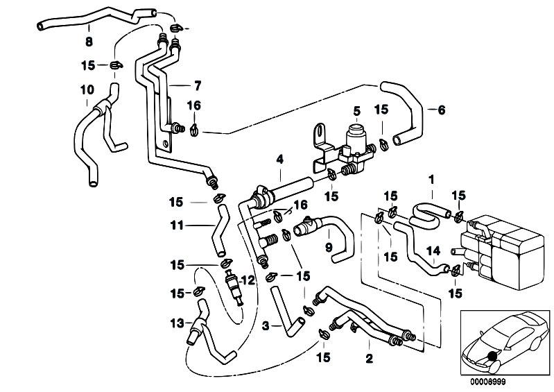 original parts for e39 540i m62 touring    heater and air