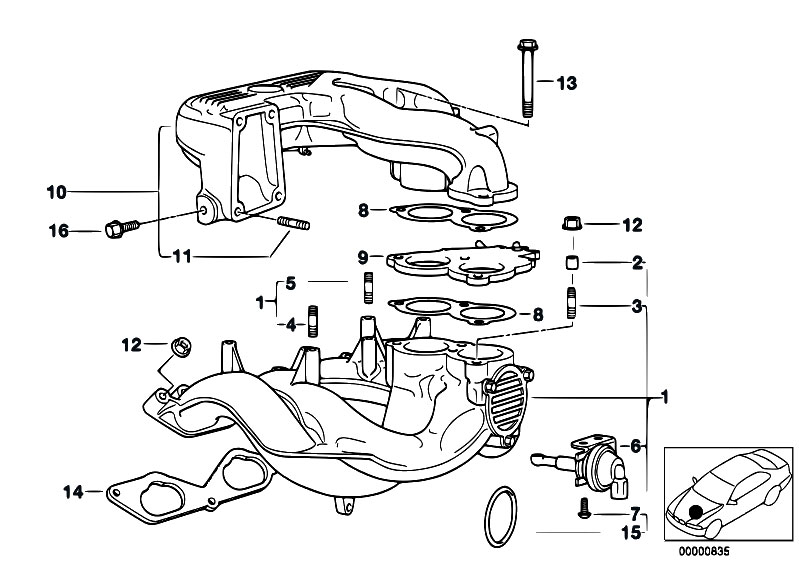 bmw 318i rear suspension diagram