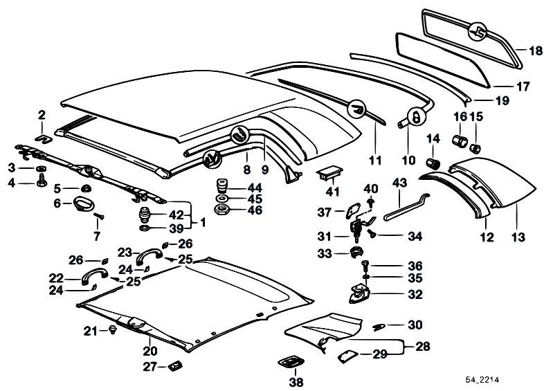 Original Parts For E36 323i M52 Cabrio    Sliding Roof