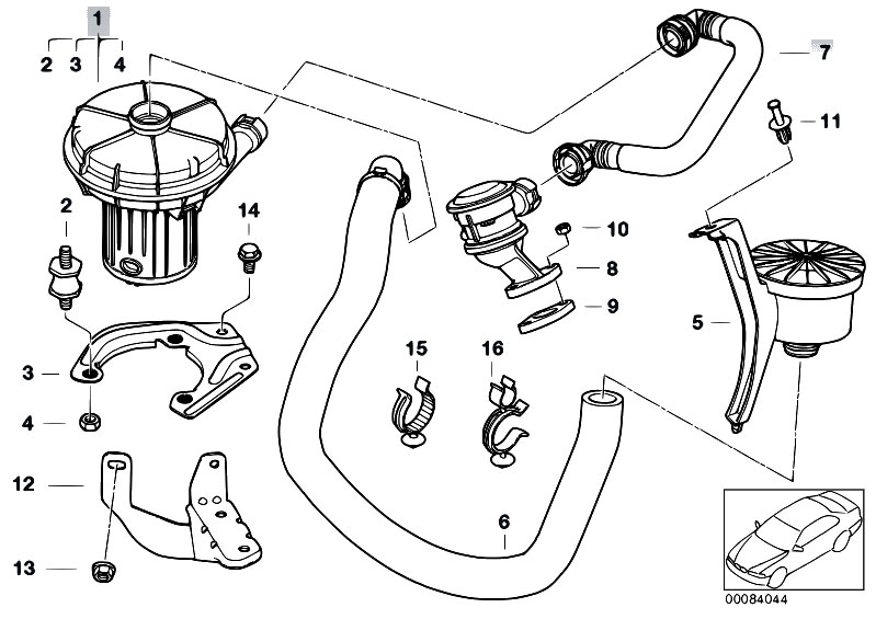 bmw e46 air pump diagram