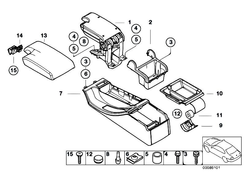 original parts for e46 323i m52 sedan    vehicle trim