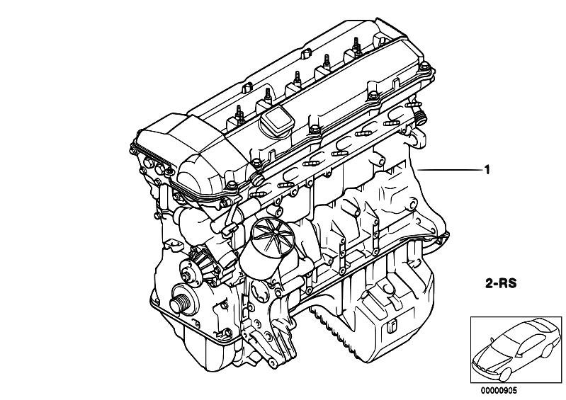 original parts for e38 728i m52 sedan    engine   short