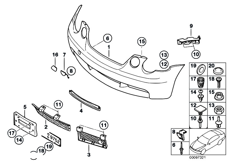 original parts for e46 316ti n42 compact    vehicle trim   m