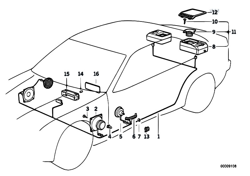 original parts for e36 m3 s50 coupe    audio navigation