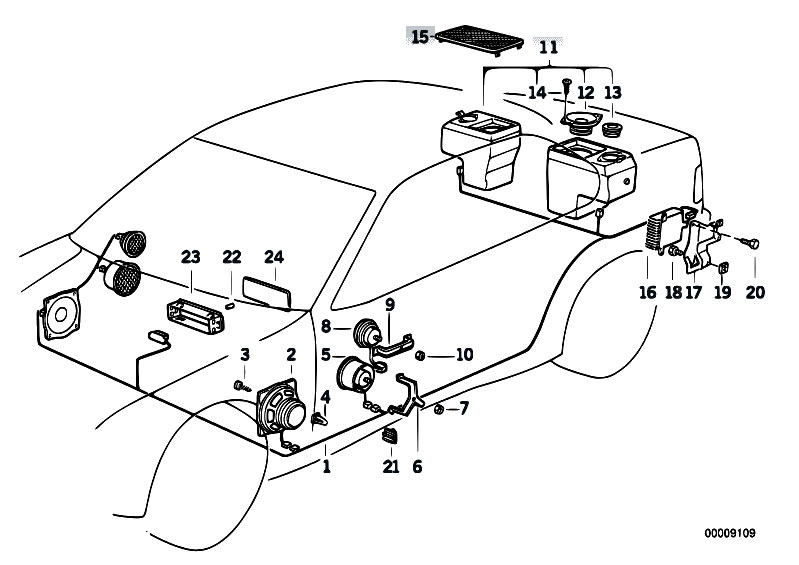 Bmw E39 Navigation Wiring Diagram : Original parts for e i m sedan audio navigation