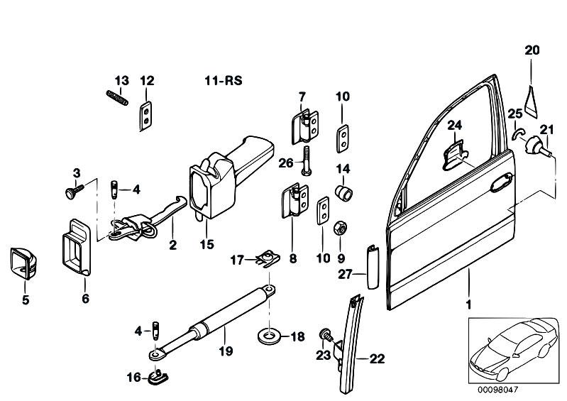 Original Parts For E39 520d M47 Touring    Bodywork   Front