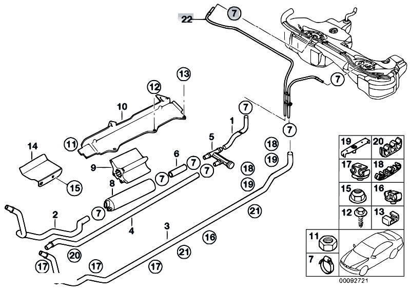 original parts for e46 330d m57 touring    fuel supply