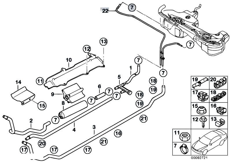 original parts for e46 330d m57 touring    fuel supply