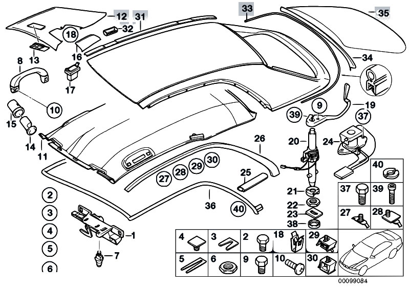original parts for e46 m3 s54 cabrio    sliding roof