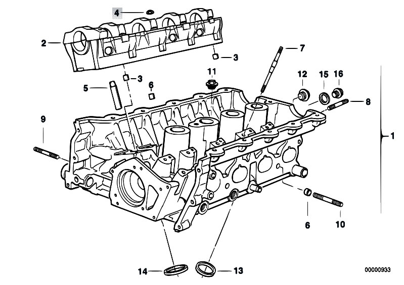 bmw m engine diagram bmw image wiring diagram original parts for e30 318is m42 2 doors engine cylinder head on bmw m42 engine diagram
