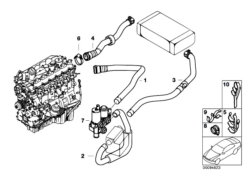 original parts for e46 330d m57 touring    heater and air