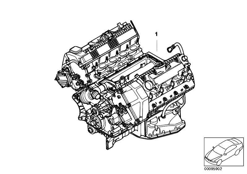 original parts for e60 540i n62n sedan    engine   short engine