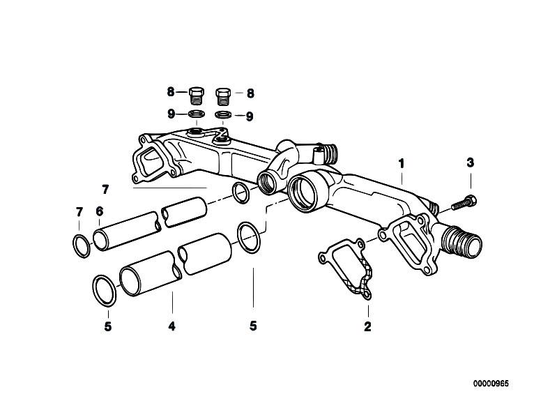 Original Parts For E38 735i M62 Sedan    Engine   Cooling