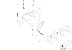 E46 316i 1.9 M43 Sedan / Engine/  Exhaust Manifold