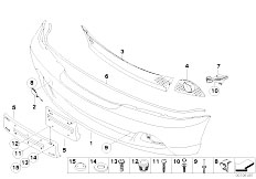 E46 330Ci M54 Coupe / Vehicle Trim/  Front Bumper Trim Panel From 03 03