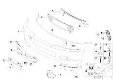 E46 330Ci M54 Coupe / Vehicle Trim/  M Front Bumper Trim Panel