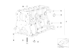 E46 316i 1.9 M43 Sedan / Engine/  Engine Block