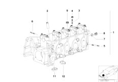 E46 316i 1.9 M43 Sedan / Engine/  Cylinder Head