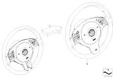 E46 316ti N42 Compact / Steering/  Modificat Strng Whl Mfl Sport M Sport