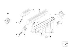 E39 520i M52 Sedan / Vehicle Electrical System/  Fuse Housing Relay Bracket