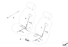 E39 520i M52 Sedan / Vehicle Electrical System/  Wiring Set Basic Sports Seat Manual