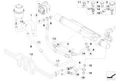 E87 116i N45 5 doors / Steering/  Hydro Steering Oil Pipes