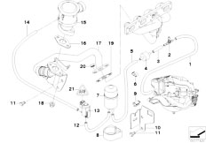 E46 316i 1.9 M43 Sedan / Engine/  Air Pump F Vacuum Control