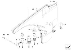 E90 316i N45N Sedan / Vehicle Electrical System/  Reservoir Windscr Headlight Washer Sys